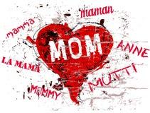 Ilustração do dia de mãe ilustração royalty free