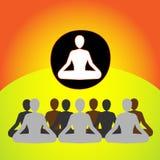 Ilustração do dia internacional da ioga do mundo Imagem de Stock Royalty Free
