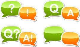Ilustração do discurso do diálogo de resposta da pergunta Fotografia de Stock Royalty Free