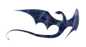 Ilustração do dragão com textura de papel Fotos de Stock