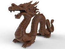 Ilustração do dragão de Clay Asian ilustração stock