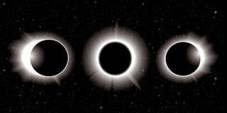 Ilustração do eclipse solar Imagens de Stock