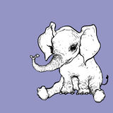 Ilustração do elefante foto de stock royalty free