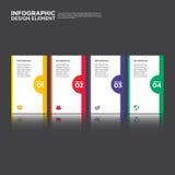 Ilustração do elemento do projeto da disposição do relatório comercial de Infographic Imagens de Stock Royalty Free