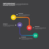 Ilustração do elemento do projeto da disposição do relatório comercial de Infographic Fotos de Stock Royalty Free