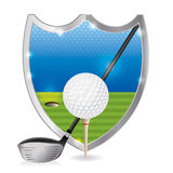 Ilustração do emblema do golfe ilustração stock