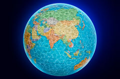 Ilustração do enigma do globo da terra de Ásia Foto de Stock Royalty Free