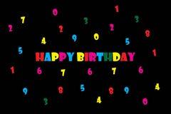 Ilustração do EPS 10 do vetor do cartão do feliz aniversario Imagens de Stock Royalty Free