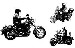 Ilustração do esboço das motocicletas do vintage Foto de Stock
