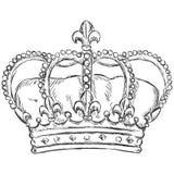 Ilustração do esboço do vetor - coroa real Imagens de Stock