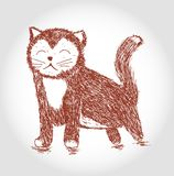 Ilustração do esboço do vetor do gato impertinente Foto de Stock