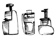 Ilustração do esboço do vetor do Juicer garatuja do espremedor de frutas Fotografia de Stock Royalty Free