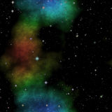 Ilustração do espaço com estrelas e a nebulosa colorida Imagem de Stock Royalty Free