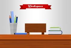 Ilustração do espaço de trabalho Imagem de Stock Royalty Free