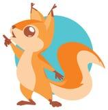 Ilustração do esquilo bonito ilustração stock
