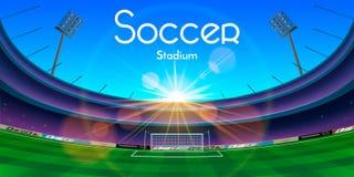 A ilustração do estádio de futebol ilustração royalty free