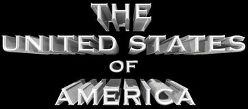 A ilustração do Estados Unidos da América 3D Foto de Stock