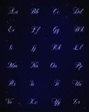 Ilustração do estilo das estrelas azuis do alfabeto Fotografia de Stock Royalty Free