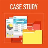Ilustração do estudo de caso imagens de stock royalty free