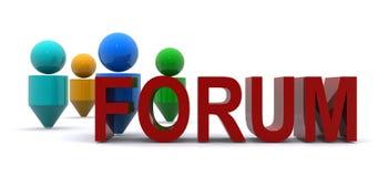 Ilustração do fórum Imagens de Stock