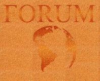 Ilustração do fórum no corkboard ilustração stock