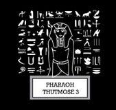Ilustração do faraó Thutmose III ilustração royalty free