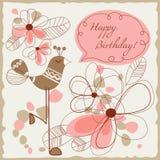 Ilustração do feliz aniversario Imagens de Stock