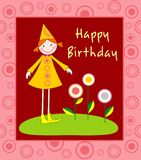 Ilustração do feliz aniversario Fotos de Stock