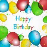 Ilustração do feliz aniversario Fotografia de Stock