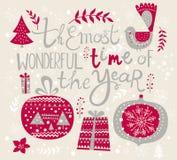Ilustração do Feliz Natal Imagens de Stock