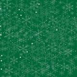 Ilustração do Feliz Natal com fundo sem emenda dos flocos de neve Fotos de Stock