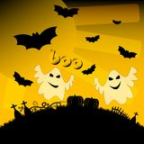 Ilustração do feriado no tema de Dia das Bruxas Desejos para Dia das Bruxas feliz Truque ou deleite Fotos de Stock