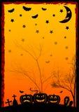 Ilustração do feriado no tema de Dia das Bruxas Desejos para Dia das Bruxas feliz Truque ou deleite Imagens de Stock Royalty Free