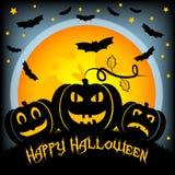 Ilustração do feriado no tema de Dia das Bruxas Desejos para Dia das Bruxas feliz Truque ou deleite Foto de Stock