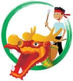 Ilustração do festival de barco de dragão Fotografia de Stock