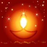 Ilustração do festival de Diwali do indiano Foto de Stock