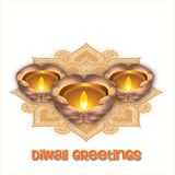 Ilustração do festival de Diwali do indiano Fotos de Stock Royalty Free