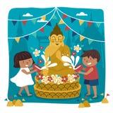 Ilustração do festival de Songkran Imagem de Stock