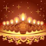 Ilustração do festival do diya de Diwali Imagens de Stock