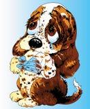 Ilustração do filhote de cachorro Foto de Stock