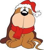 Ilustração do filhote de cachorro do Natal Foto de Stock