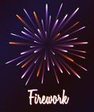 Ilustração do fogo de artifício do vetor Fotos de Stock