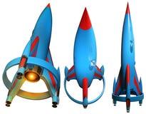 Ilustração do foguete de espaço 3D Foto de Stock Royalty Free