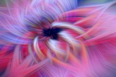 Ilustração do fractal do fulgor do cosmos do teste padrão futurista vibrante ilustração stock