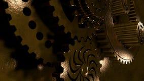 ilustração do fundo 3D de um grupo, de um grupo de engrenagens do metal do ouro, da prata e da platina que trabalham em uma equip ilustração do vetor