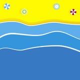 Ilustração do fundo da praia Foto de Stock