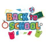 Ilustração do fundo de volta à escola Foto de Stock Royalty Free