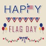 Ilustração do fundo do dia de bandeira dos E.U. Foto de Stock Royalty Free