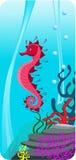 Ilustração do fundo do mar Foto de Stock