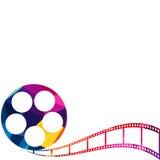 Ilustração do fundo do polígono do carretel de filme abstrato Fotografia de Stock Royalty Free
